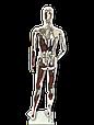 Манекен серебряный  мужской, фото 2