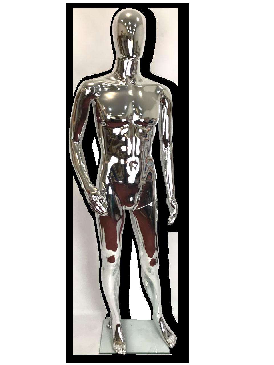 Манекен серебряный  мужской