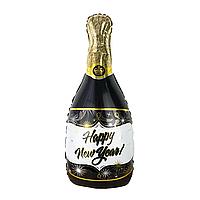 Фольгированный шар 39' Китай Бутылка шампанского С новым годом, 96 см
