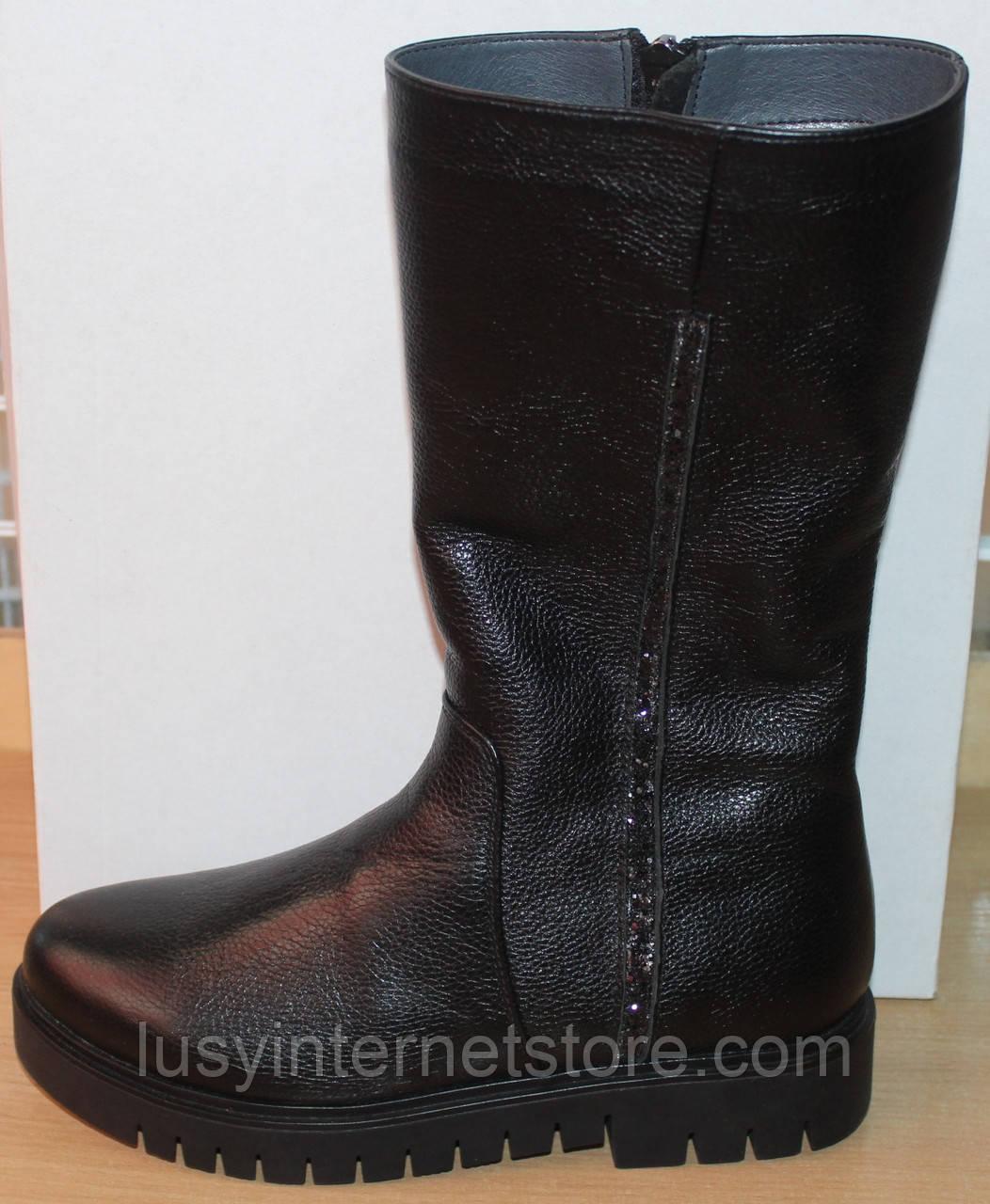 Сапоги зимние кожаные женские на широкую ногу от производителя модель СА258