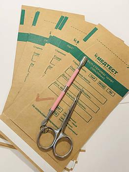 Крафт пакеты коричневые для паровой и воздушной стерилизации Медтест,  100х200 мм, 100 шт