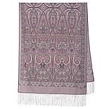 Романтическое свидание 1388-54, павлопосадский шарф шерстяной  с шелковой бахромой, фото 3