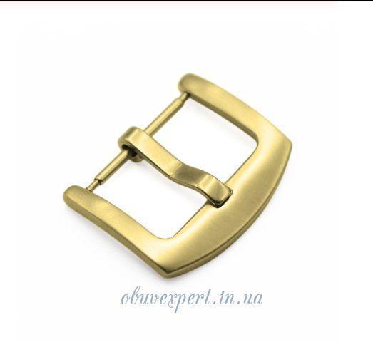 Пряжка для ремінця годинника 18 мм Золото
