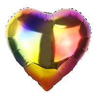 Фольгированный шар Сердце градиент Китай, 44*45 см (18'')