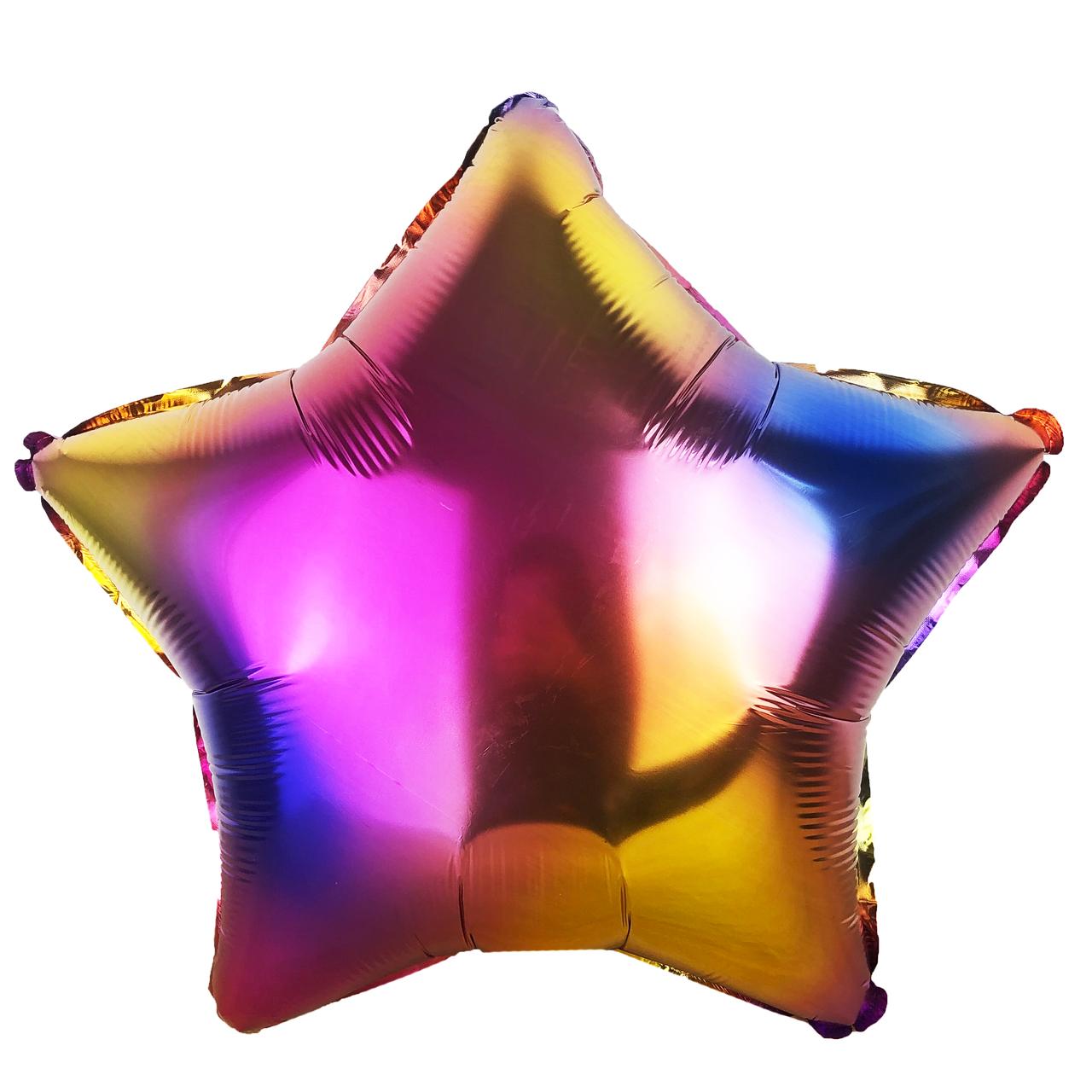 Фольгированный шар 18' Китай Звезда градиент, 44 см