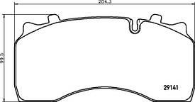 Комплект гальмівних колодок Textar 29141