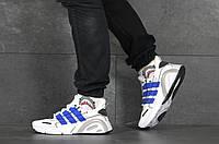 Кроссовки Adidas мужские, белый/синий, в стиле Адидас, текстильные, код SD-8343
