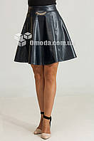 Женская молодежная юбка  Риана темно-синяя кожа