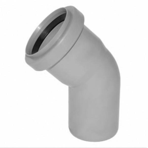 Колено для внутренней канализации Инсталпласт 110/67 (серое)