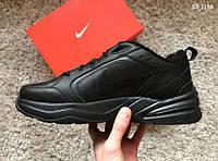 Мужские кроссовки Nike Air Monarch IV (черные) KS 1188