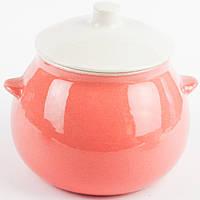 Горшок для жаркого розовый 600 мл