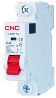 Модульний автоматичний вимикач YCB6Н-63, 1Р, 16А, 4,5kA, тип С