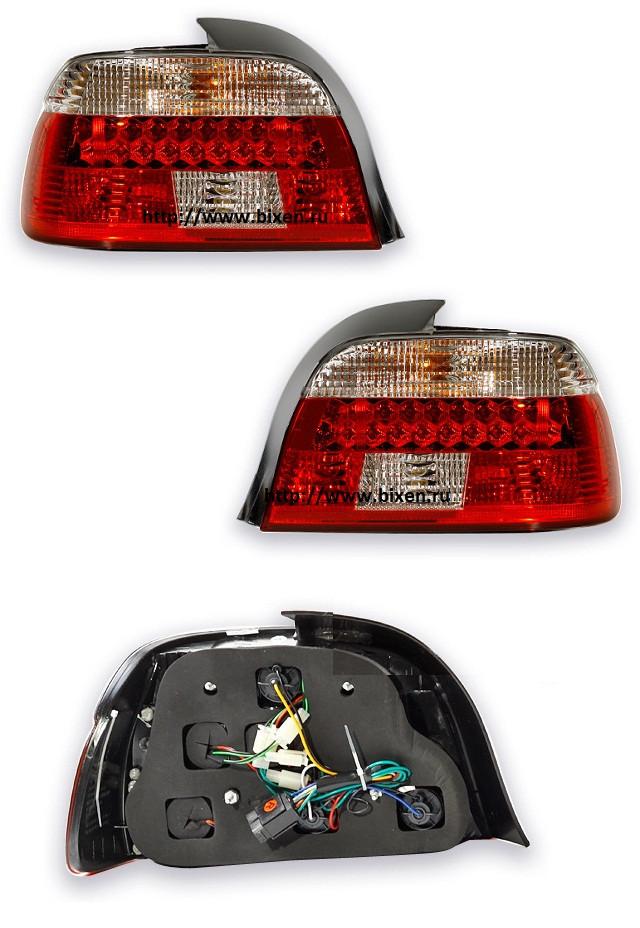 Фары-стоп BMW 5 (95-00) LED (cristal) (2шт)