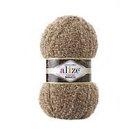 Пряжа букле Alize Naturale Boucle 6054 (нитки для вязания Ализе Натурель Букле)