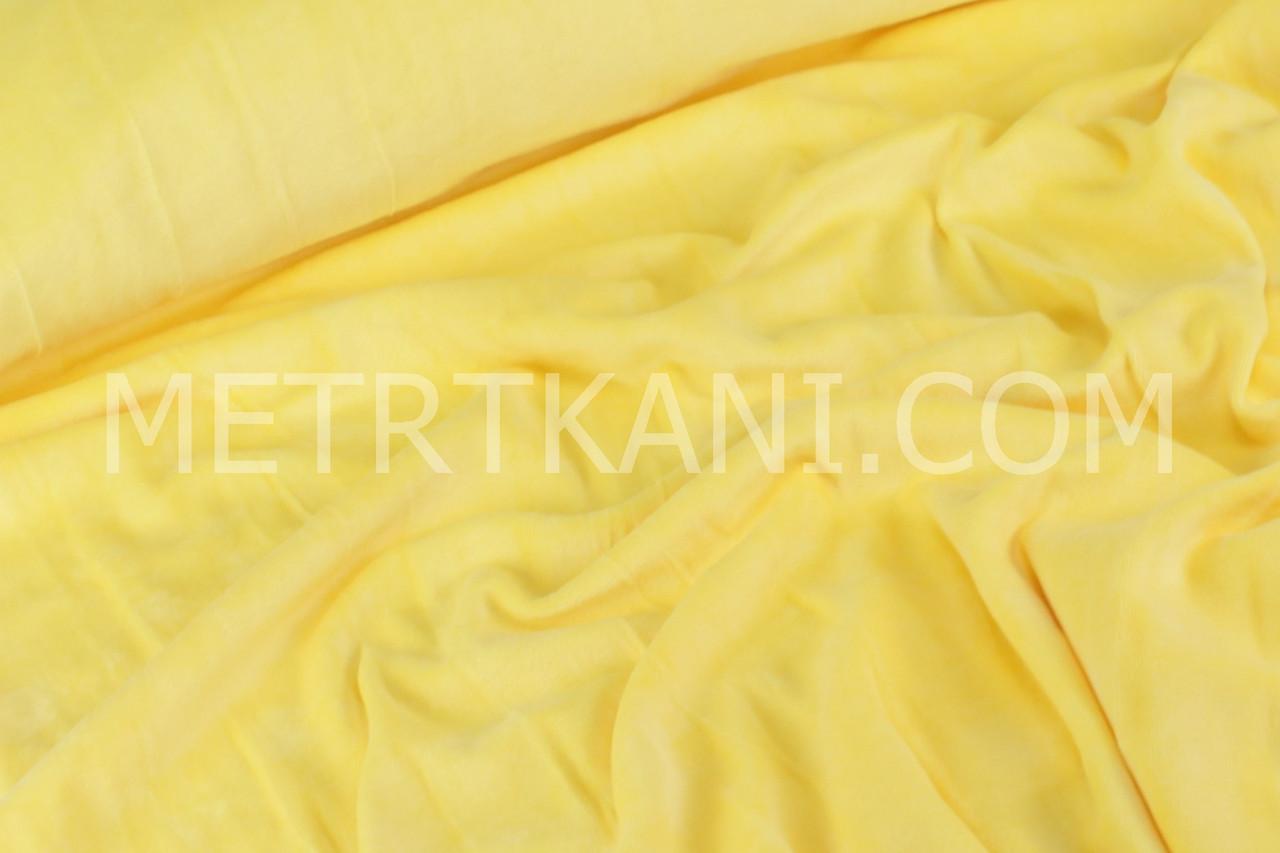 Велюр х/б желтого цвета, ширина 180см № В-07