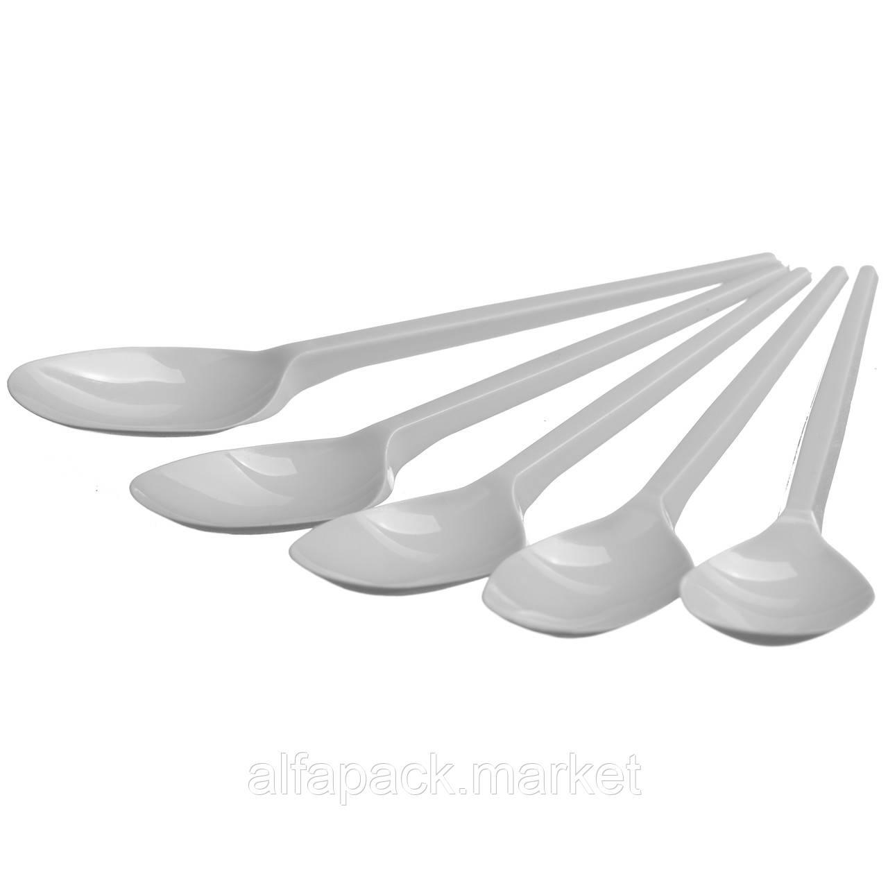 Набір одноразового посуду Food Packing Ложка одноразова біла 5 персон 000003324