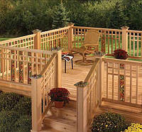 Деревянные ограждения террасы, веранды, балконов под ключ.