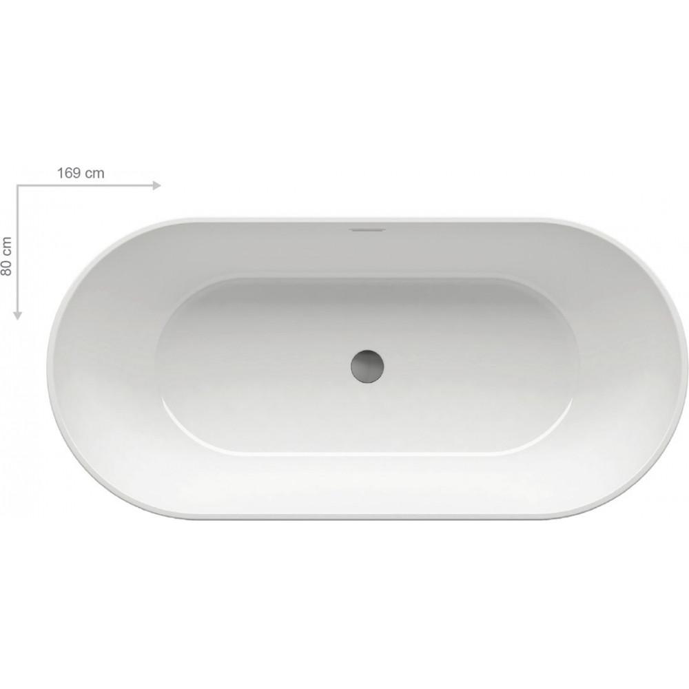 Ванная отдельностоящая Ravak Freedom O / Q 1690х800 с сифоном