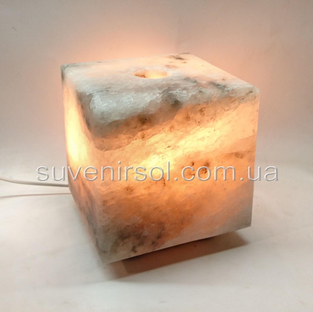 Соляной светильник Куб средний