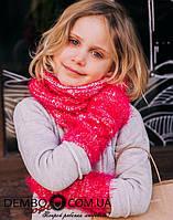 Детская набор хомут и митенки для девочек ЖОЗЕЛЬ оптом