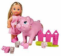 """Игровой набор """"Кукла Еви и свинка с поросятами"""" (573 3337)"""