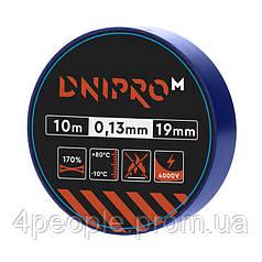 Изоляционная лента Dnipro-M 10 м 19 мм 0,13 мм синий 4000 В