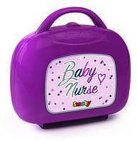 Чемоданчик игровой набор для ухода за куклой Baby Nurse Smoby Прованс Фуксия 220341
