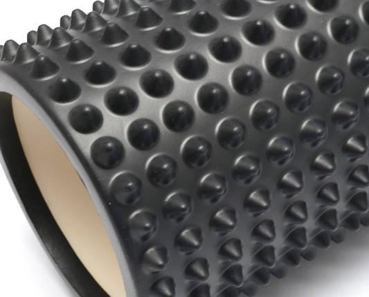 Массажный валик 33х13 см. (MS 2747) Черный, фото 2