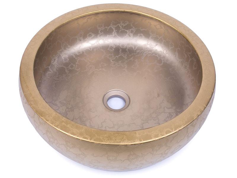Раковина накладная керамическая NEWARC 42 (5061),  б/п, (42*42*15)