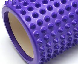 Массажный валик 33х13 см. (MS 2747F) Фиолетовый, фото 2