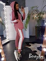 Утепленный спортивный костюм с лампасами в разных цветах