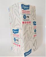 Полотенца листовые V, белые, 1-слойные, целлюлоза, 150лист., 20шт./ящ., Размер лист.: 20x22см