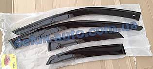 Ветровики VL Tuning на авто Nissan Sentra B17 Sd 2014 Дефлекторы окон ВЛ для Ниссан Сентра Б17 седан с 2014