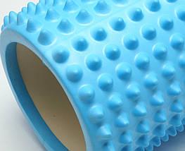 Массажный валик 33х13 см. (MS 2747BL) Голубой, фото 2
