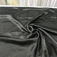 Атлас однотонный черный, ширина 150 см