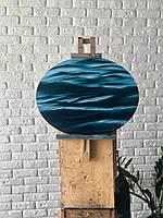 """Картина маслом на овальном холсте """"Океан"""""""