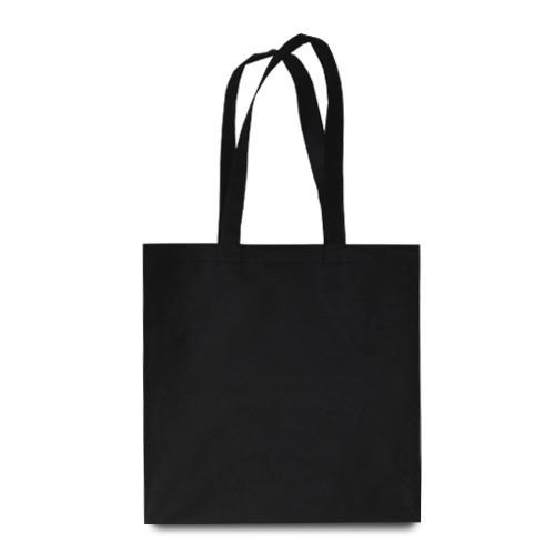 Эко-сумка черная из спанбонда (38х40 см.), 80 г/м2