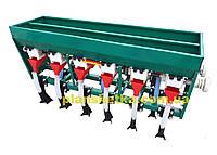 Сеялка зерновая, овощная к мотоблоку 6-ти рядная с бункером для удобрения