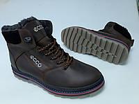 Ботинки зимние мужские кожаные на шнурках от производителя модель ДИБК18