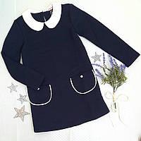 """Платье для девочки """"Александра"""", р. 116, 128, 134, 140, темно синий, фото 1"""