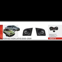 Противотуманные фары Vitol NS-073W Nissan Tiida 2005-08 эл.проводка