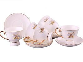 """Порцеляновий чайний набір на 6 персон """"Принцеса"""" Lefard 264-409"""
