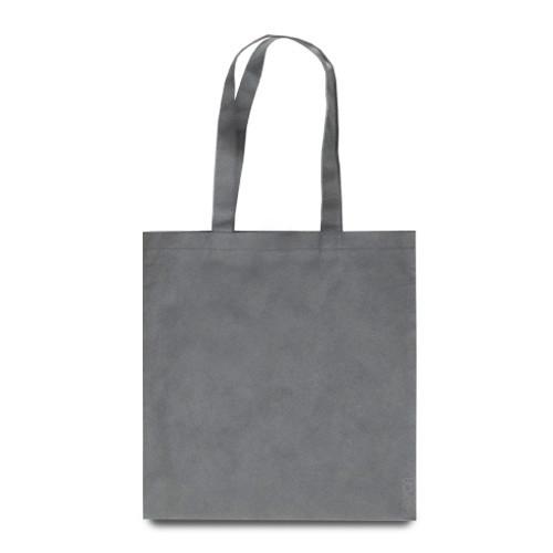 Эко-сумка серая из спанбонда (38х40 см.), 80 г/м2