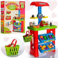 Детский игрушечный магазин LIMO TOY 661-79, 44 предмета, касса, продукты, прилавок