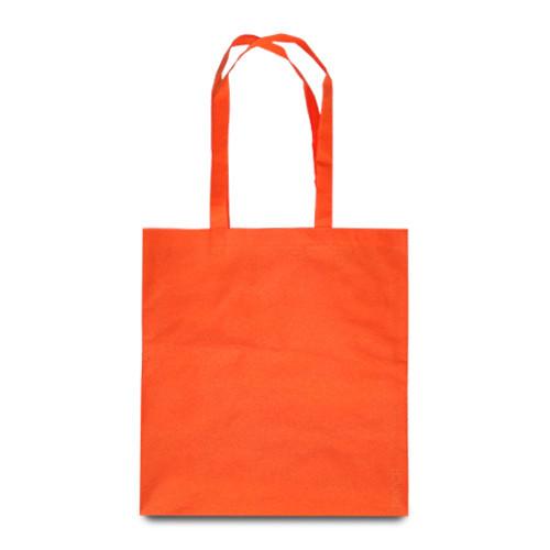 Эко-сумка оранжевая из спанбонда (38х40 см.), 80 г/м2