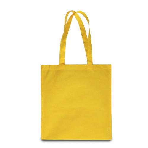 Эко-сумка желтая из спанбонда (38х40 см.), 80 г/м2