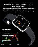Смарт часы smart watch T80 черный с тонометром, фото 4