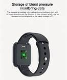 Смарт часы smart watch T80 черный с тонометром, фото 2