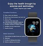 Смарт часы smart watch T80 черный с тонометром, фото 7