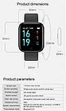 Смарт часы smart watch T80 черный с тонометром, фото 8